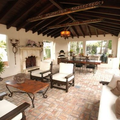 441 best mexico inspiration images on pinterest   haciendas ... - Spanish Style Patio Ideas