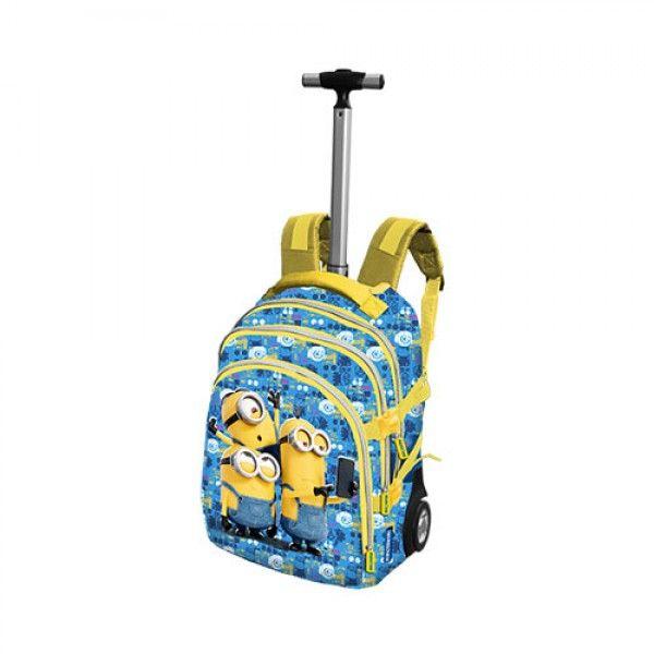 Zaino con Ruote Minions per la Scuola, Trolley Scuola e Bagaglio a Mano…