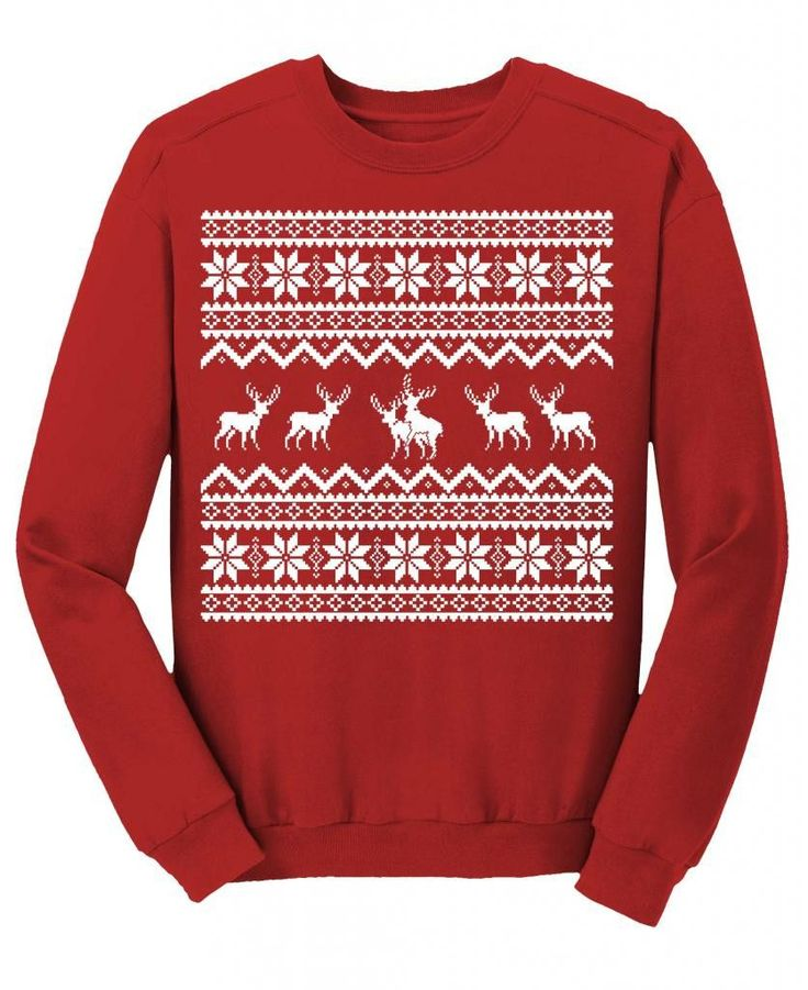 Reindeer Sex Games - Funny Ugly Christmas Sweater - SWEAT SHIRT