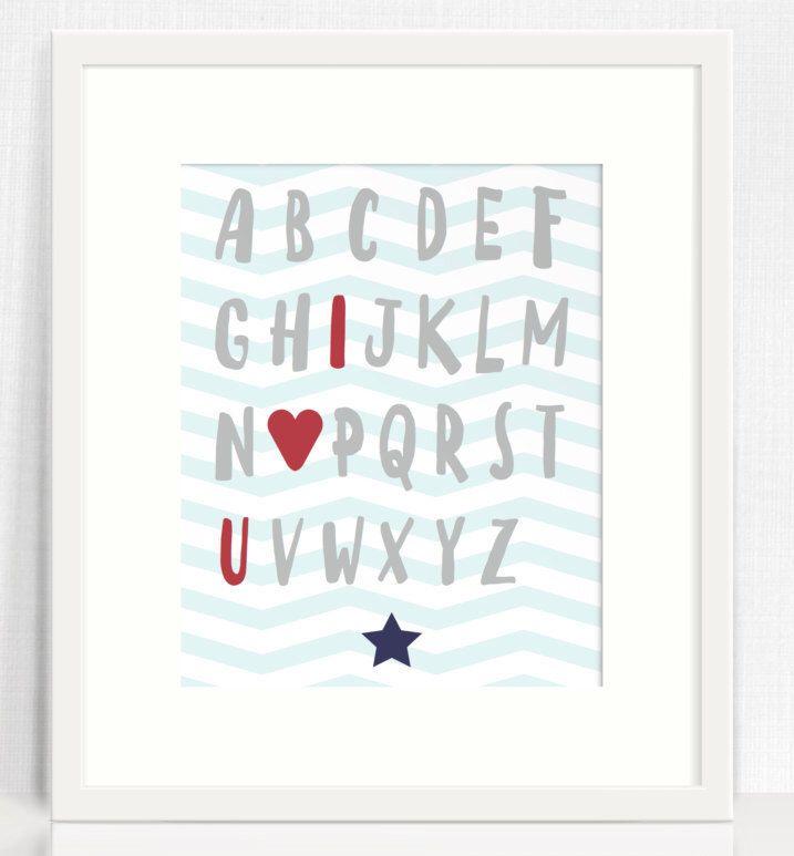 Alphabet Love Nursery wall art, Nursery decor, Printable wall art, Alphabet, Digital print, Instant download, Nursery poster by TheLittleJonesCo on Etsy https://www.etsy.com/uk/listing/466656955/alphabet-love-nursery-wall-art-nursery