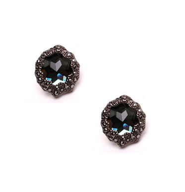 Black Diva- Crystal Earrings, Silver Pin – Sundayivy