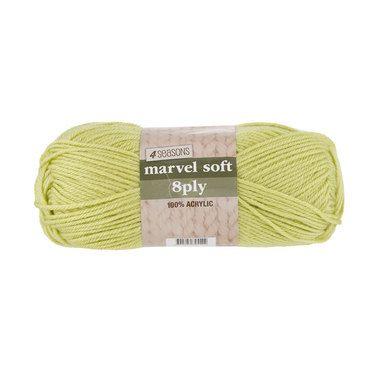 4 Seasons Marvel Soft 8 Ply Yarn Lime 100 g