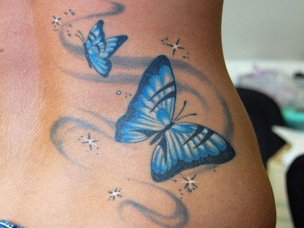Pink Butterfly Tattoos with Names | 25 Overwhelming Nice Tattoos - SloDive