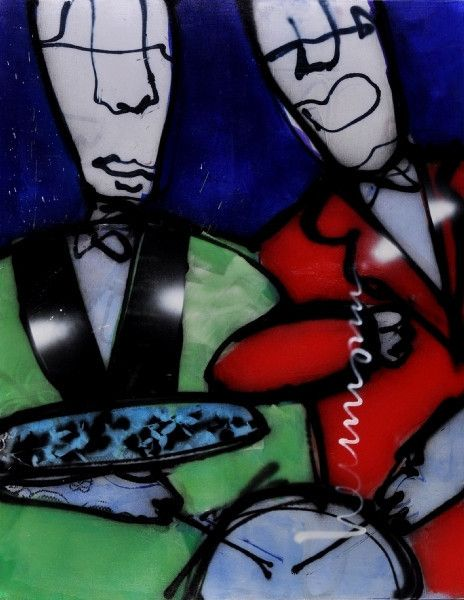 Drummer boys - Herman Brood – Acrylic on canvas