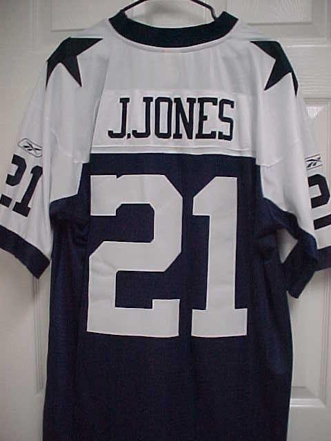 JULIUS JONES 21 Dallas Cowboys Sewn Stitch Navy Blue Throwback Jersey XL  Reebok  Reebok  DallasCowboys df4345085
