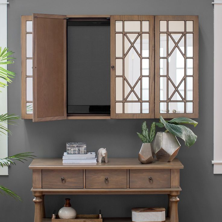 Belham Living Florence TV Wall Cabinet - The Belham Living Florence TV Wall Cabinet allows you to keep your TV out of sight while adding an effortless elegance. Double doors conceal the TV...