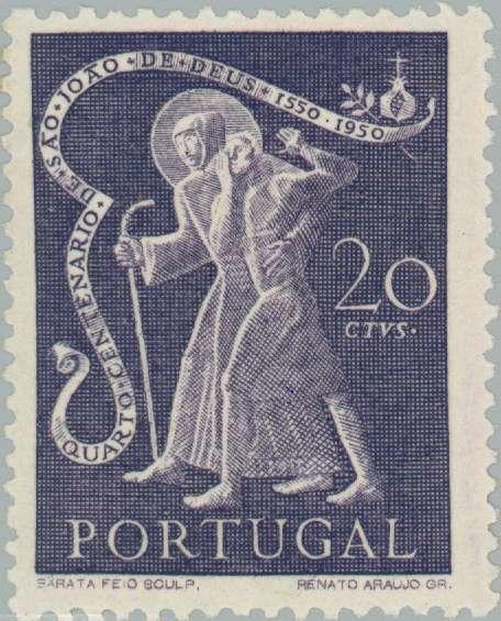 Stamp: John of God (1495-1550) health-care worker (Portugal) (St. John of God) Mi:PT 752,Sn:PT 721,Yt:PT 734,Afi:PT 723