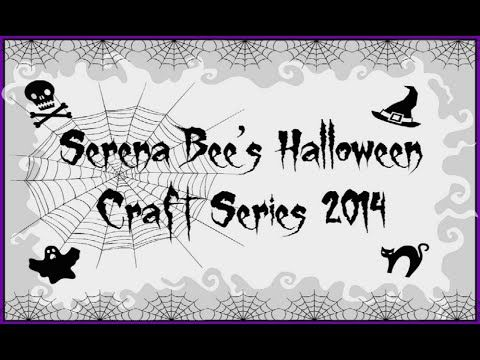 halloween mini album tutorial serena bees halloween craft series 4 youtube - Youtube Halloween Crafts