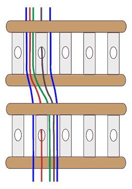 double-heddle threading diagram