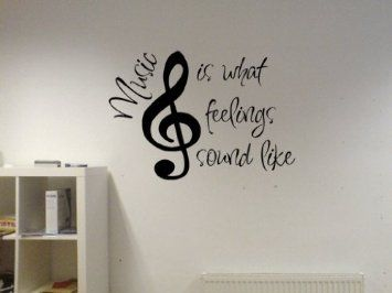 Amazon.com: Music Is What Feelings Sound Like Vinyl Wall Decal: Home & Kitchen: Amazon Com, Wall Decor, Idea, Quotes, Feelings Sound, Music Wall, Music Room, Tattoo, Vinyl Wall Decals