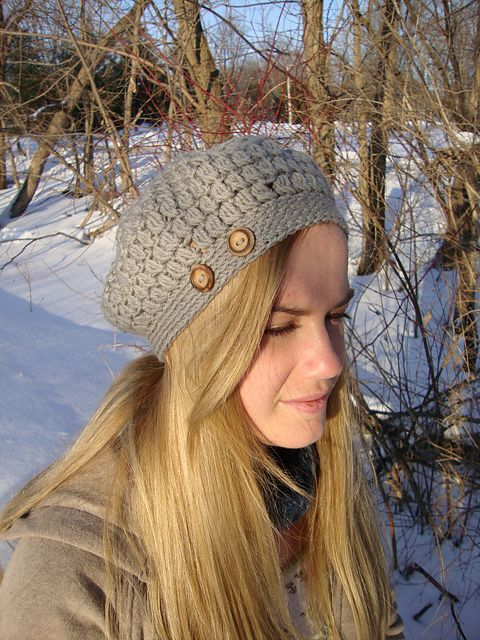 In Bloom Beret and Cap by Brittney Waterhouse / free pattern from rav