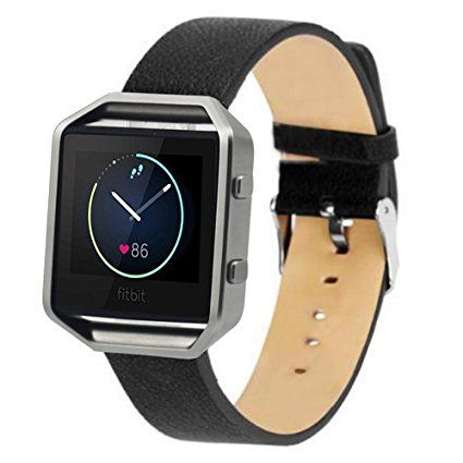 Eagwell Fitbit Blaze Accessory Band,for Fitbit Blaze Smart Fitness Watch,  Leather, Black