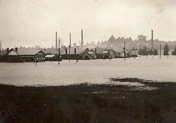60087. The flooded reserve at the rear of Carroll Crescent, 30 November 1934.