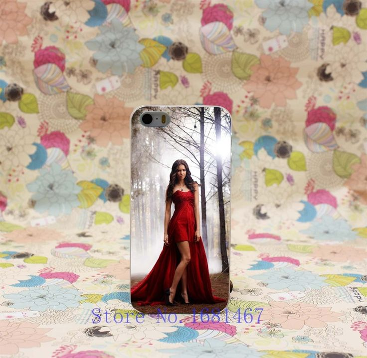 Hard Clear Back Cover Transparent Case for iPhone 7 7 Plus 5 5s 5g 183R- VAMPIRE DIARIES kleid vorne kurz hinten lang