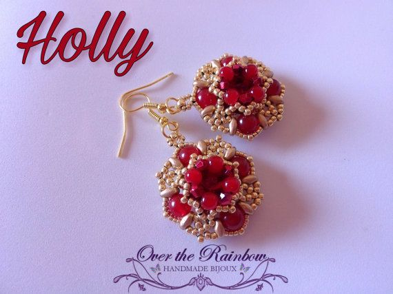 PDF HOLLY earrings di NicoleOverTheRainbow su Etsy