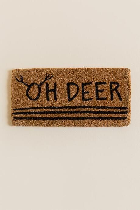 Oh Deer holiday door mat