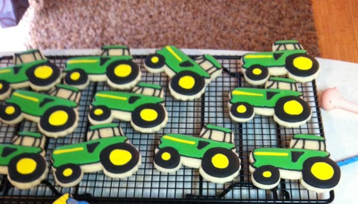 John Deere Tractor Cutouts : John deere cookies my swanky sweets creations
