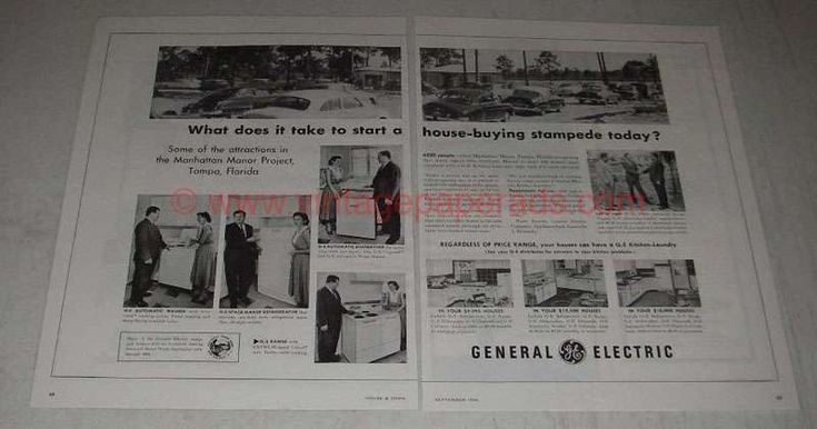 1954 General Electric Appliances Ad - Start a Stampede