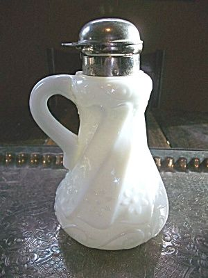 Victorian Syrup Pitcher EAPG Milk Glass Vintage 1800s