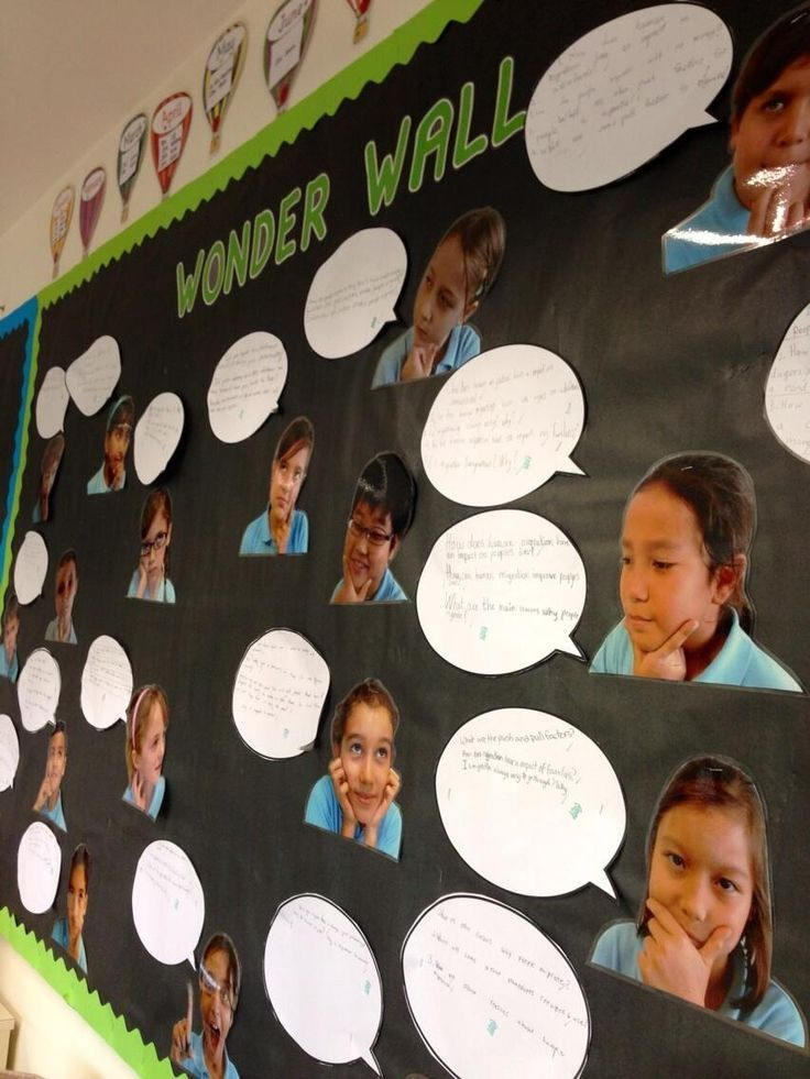 Socioemotional - A wonder wall is perfect for students to express what they are thinking about and also encourages students to talk to each other about what they are thinking about.