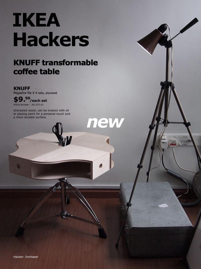 KNUFF Transformable Coffee Table - IKEA Hackers - IKEA Hackers