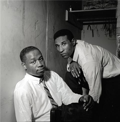 Herman Leonard | Clifford Brown & Max Roach, NYC, New York, 1954 (CLB-MXR02)