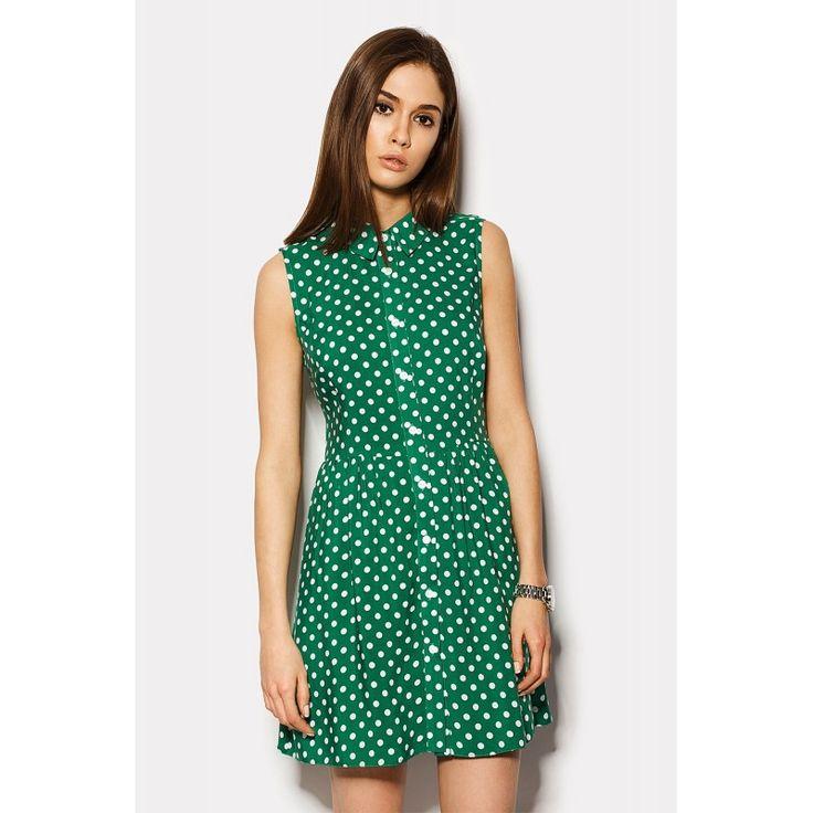 Платье горох зеленое фото