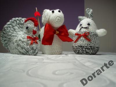 Baranek, Zajączek, Kurka, Wielkanoc - duże 15 cm
