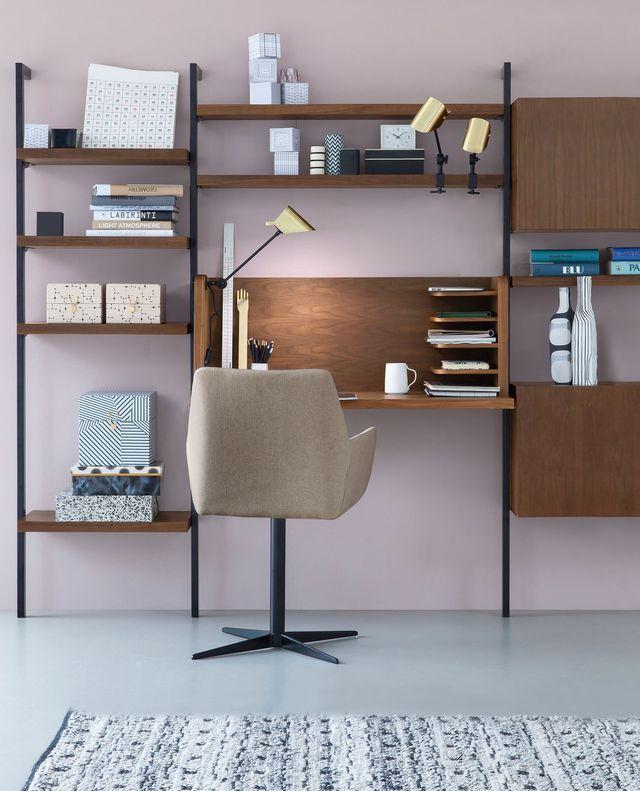 Gain de place et modularité sont de mise pour ce bureau