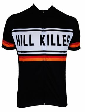 Hill Killer Black Retro Cycling Jersey - Jerseys - Mens