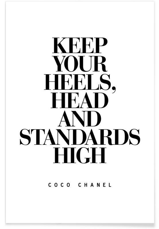 Keep Your Heels als Premium Poster von THE MOTIVATED TYPE | JUNIQE