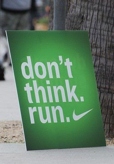Don't think. Run. | running quotes | | quotes for runners | | motivational quotes | | inspirational quotes | | quotes | #quotes #runningquotes #motivationalquotes https://www.runrilla.com/