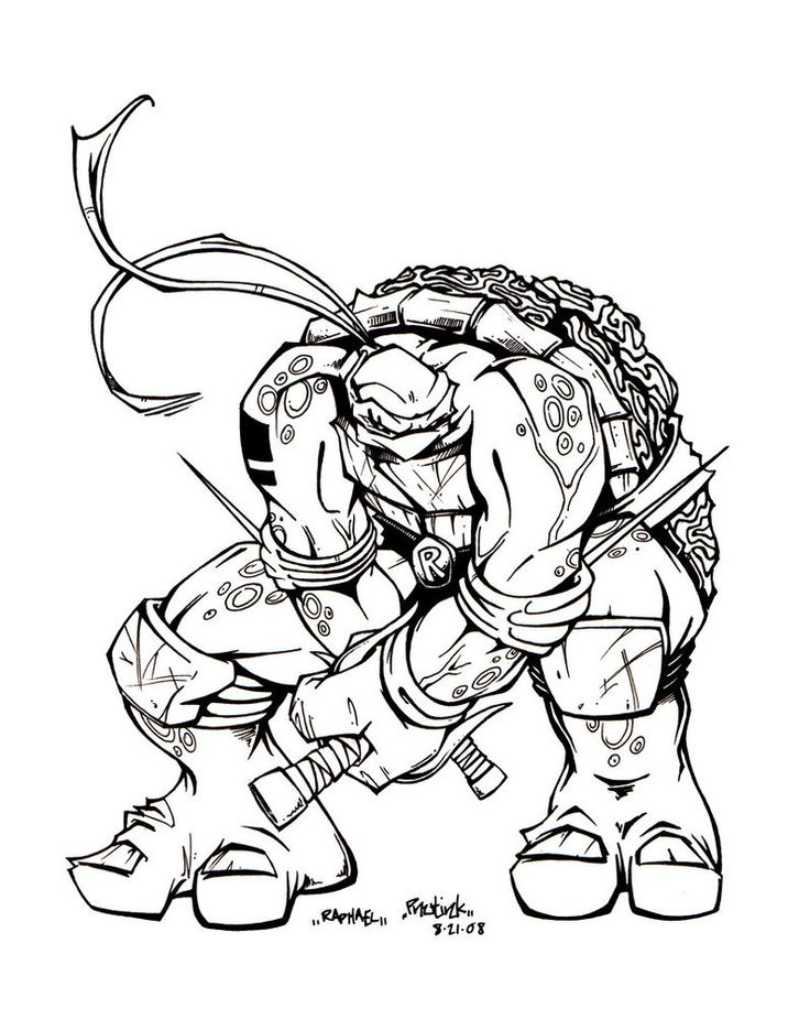 1884 best images about tmnt on pinterest see more ideas for Raphael ninja turtle coloring pages
