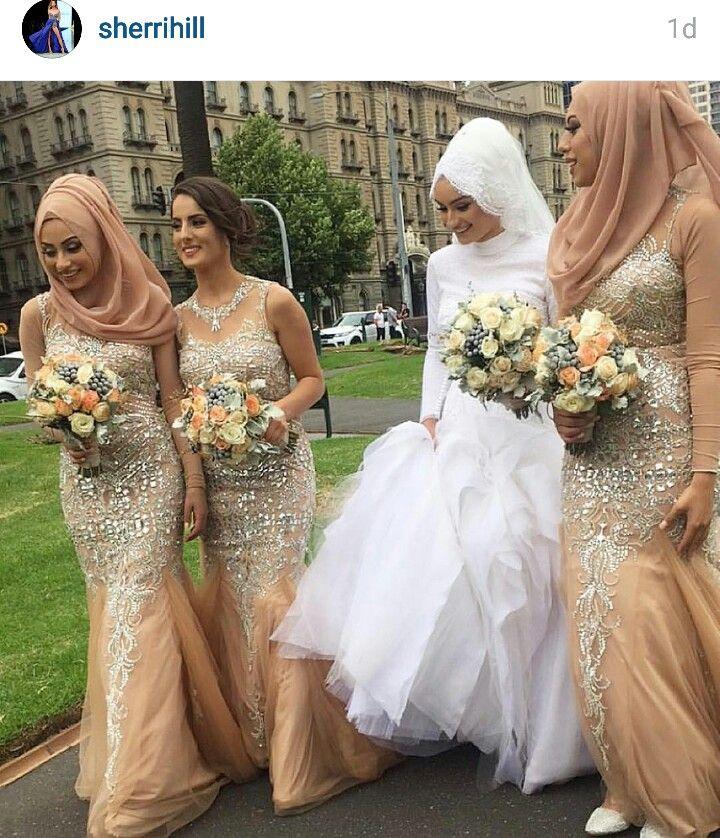 Hijabi bridesmaids