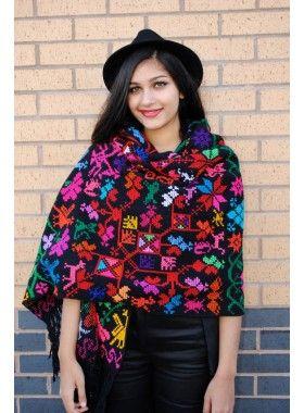 Crafty Cloth Handmade Cross-Stitched Embroidery Shawl. Buy @ http://thehubmarketplace.com/Handmade-cross-stitched-embroidery-shawl-oversize-scarf