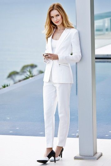 A white suit - so on trend for spring/summer