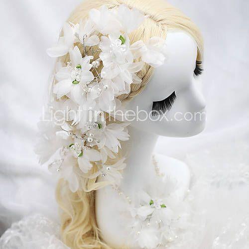 Femme / Jeune bouquetière Tissu Casque-Mariage / Occasion spéciale Fleurs Blanc de 1417093 2016 à €6.85