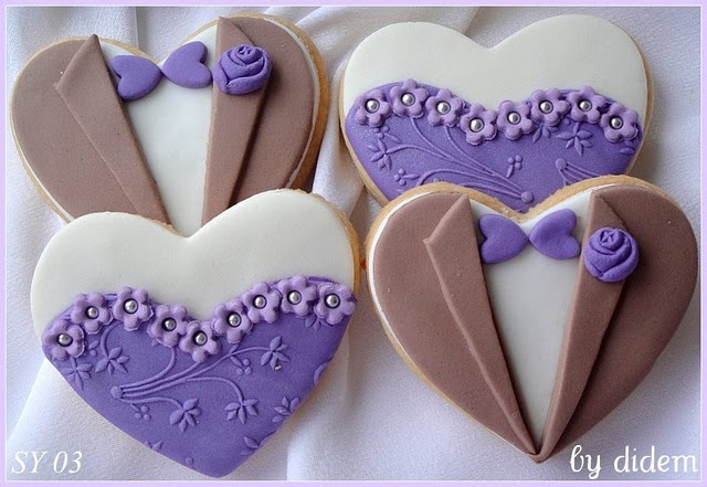 Prom date or bride and groom cookies
