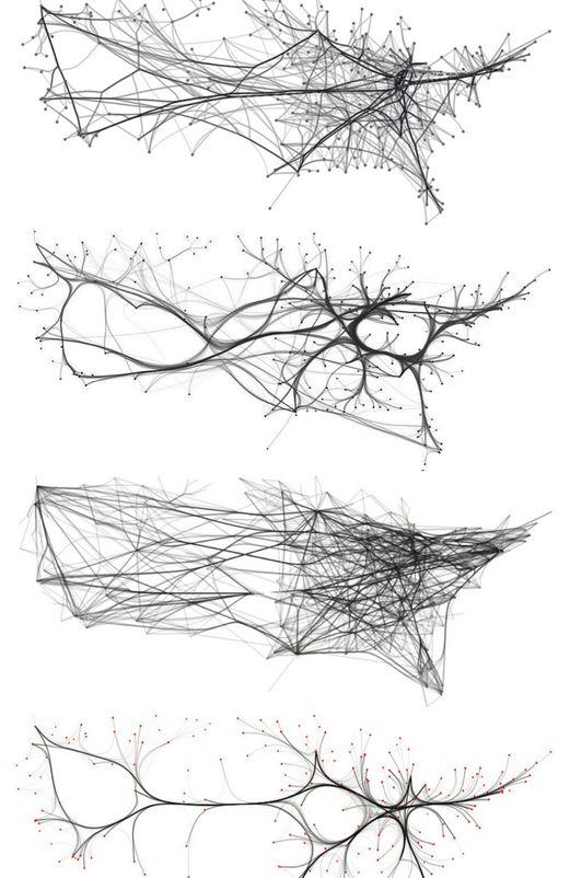 Edge bundling alternatives for US airline routes, http://www.cs.rug.nl/svcg/Shapes/KDEEB