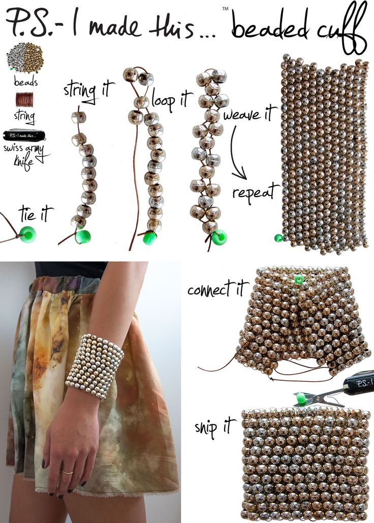 Make your own beaded cuff bracelet
