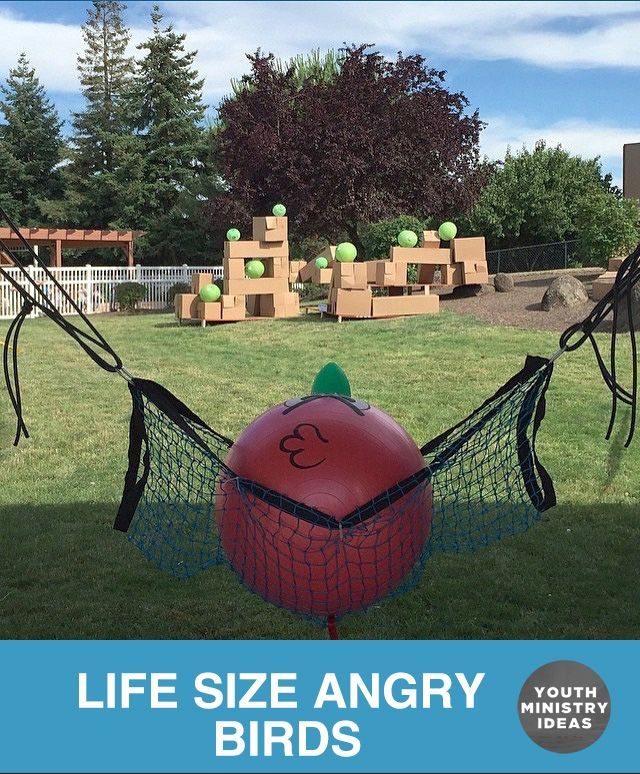 These guys made a pretty legit Life Size Angry Birds set up. Youth Ministry Ideas and Games.                                                                                                                                                                                 More