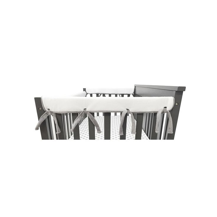 TL Care Heavenly Soft Chenille Reversible Side Crib 2-pk. Rail Covers, Multicolor