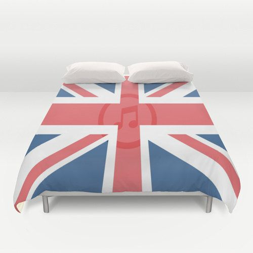 England Music Duvet Cover Personalized Color  Full Queen by xkbeth