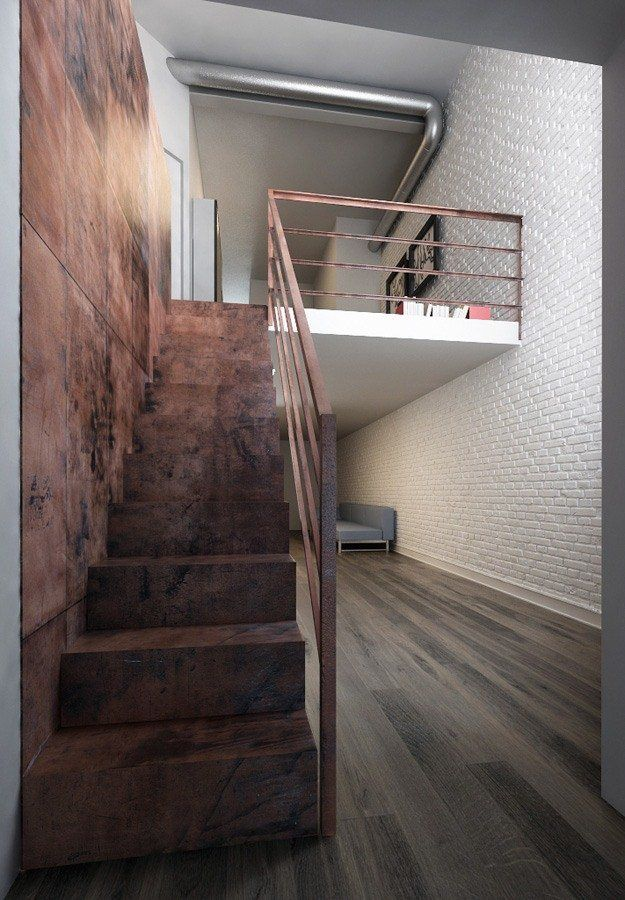 Loft in brooklyn new york 2012 aszarchitetti stairs for Interieur loft new york