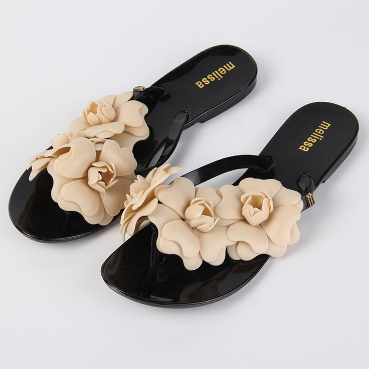2017 Summer Style PU Leather Simple Designer Flip Flops Flower Beach Slippers Women Shoes Casual Sandals Women Female Slippers