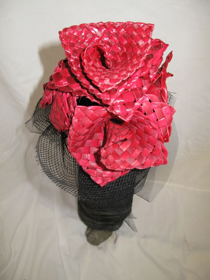 Beautiful flax woven bouquet of red flowers- creation of Forever Flax