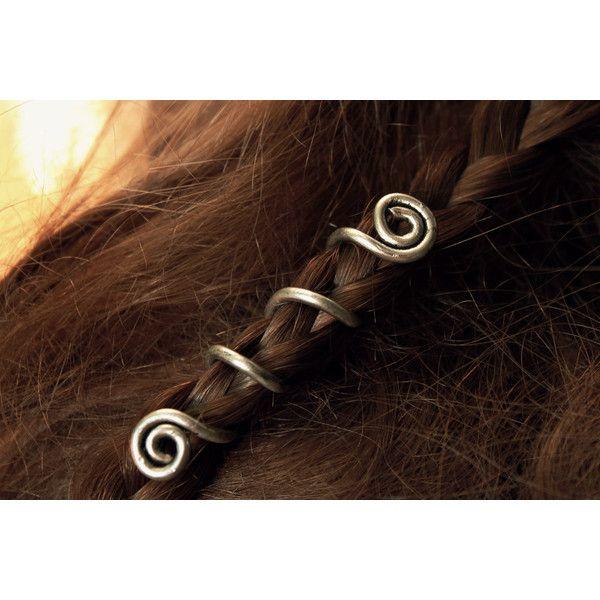 2 Custom Viking hair beads Spiral hair coils Beard jewelry Dwarven... (€26) ❤…