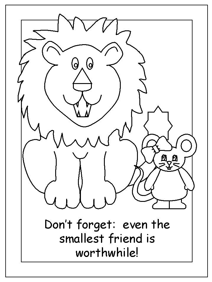 Library Lion Coloring Page Youngandtae Com Lion Coloring Pages Lion And The Mouse Fables Activities