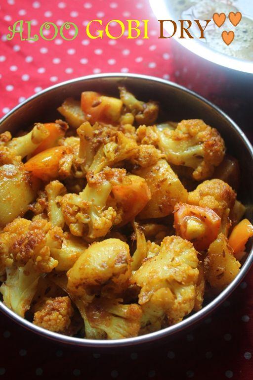YUMMY TUMMY: Aloo Gobi Recipe / Dry Aloo Gobi Recipe / Aloo Gobi Fry Recipe - Side Dish for Rice