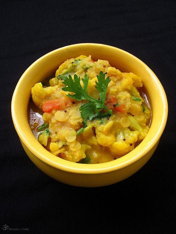 Indické karfiolové kari